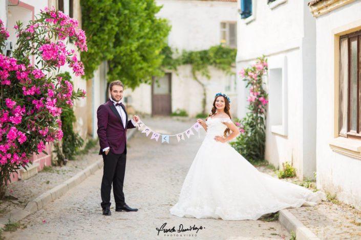 Seda ve Bahadır Bozcaada Dış Mekan Çekimi Düğün Fotoğrafları. Edremit Düğün Fotoğrafçısı Funda Demirkaya (3)