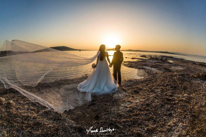Fehime ve Abdurrahman Cunda Ayvalık dış mekan düğün çekimleri (1)