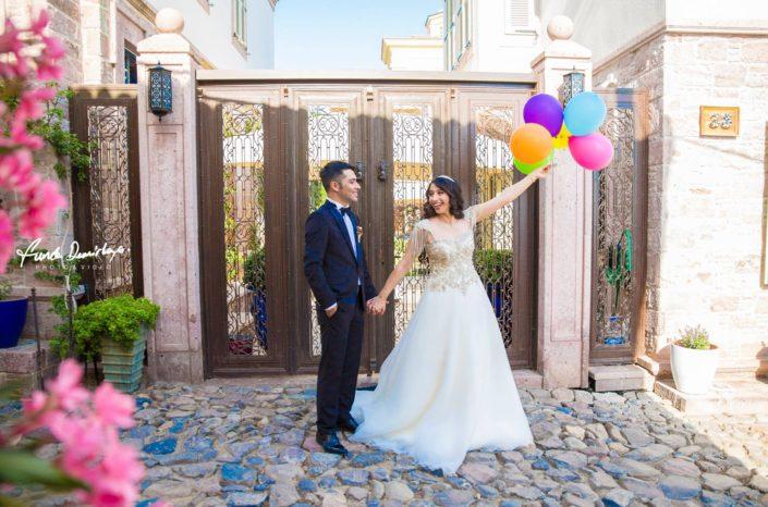 Fehime ve Abdurrahman Cunda Ayvalık dış mekan düğün çekimleri (3)