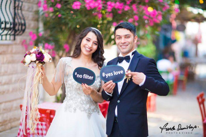 Fehime ve Abdurrahman Cunda Ayvalık dış mekan düğün çekimleri (4)