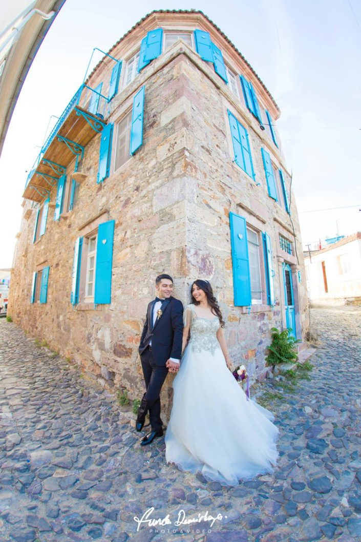 Fehime ve Abdurrahman Cunda Ayvalık dış mekan düğün çekimleri (8)