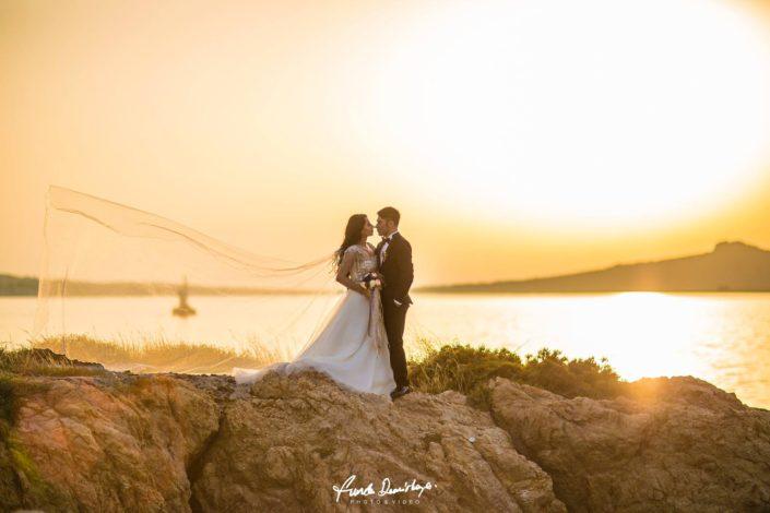 Fehime ve Abdurrahman Cunda Ayvalık dış mekan düğün çekimleri (9)