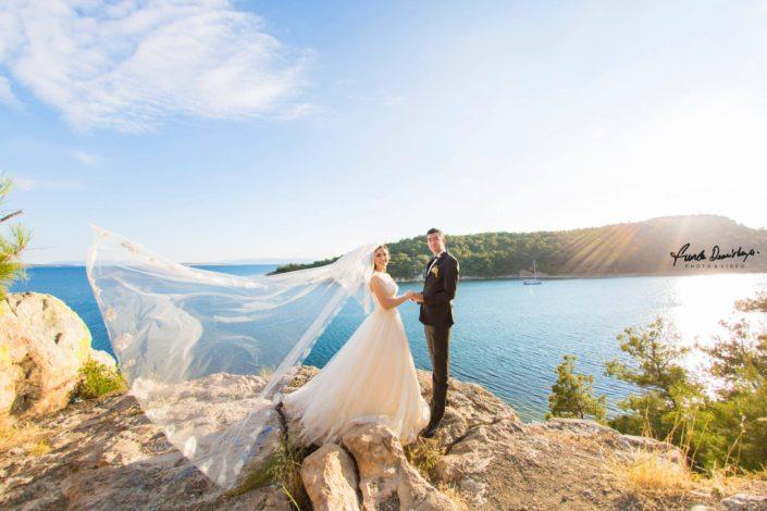Nurbanu ve Cafer Ayvalık Cunda Dış Mekan Çekimi düğün fotoğrafları balıkesir düğün fotoğrafçısı (5)