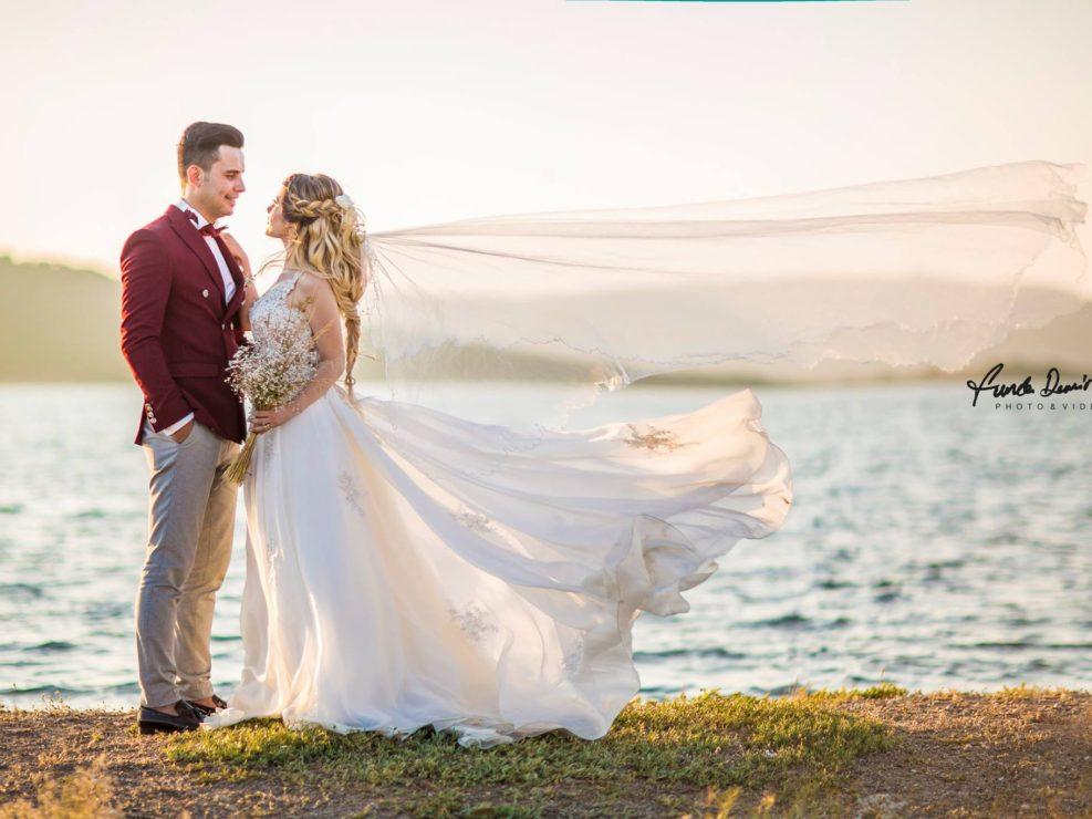 yasemin ve burak ayvalık cunda edremit balıkesir dış mekan doğa düğün fotoğraf çekimi