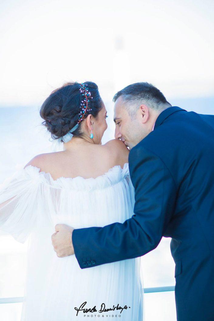 Fulya ve Burak Çanakkale Bozcaada Save The Date fotoğrafları