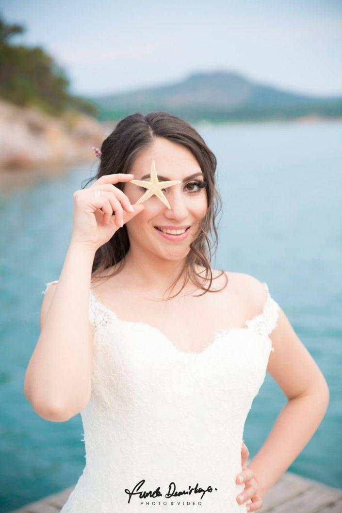 Gizem ve Serkan Cunda Alibey Adası Ayvalık Balıkesir dış çekim düğün fotoğrafları