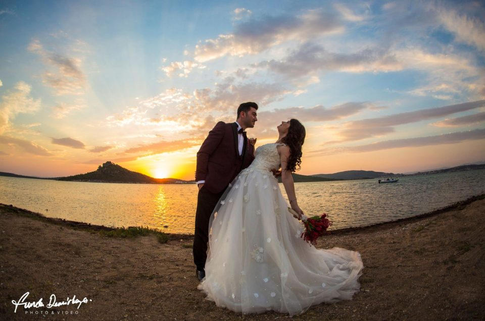 Cunda Alibey Adası Ayvalık Balıkesir dış çekim düğün fotoğrafları Merve ve Ahmet