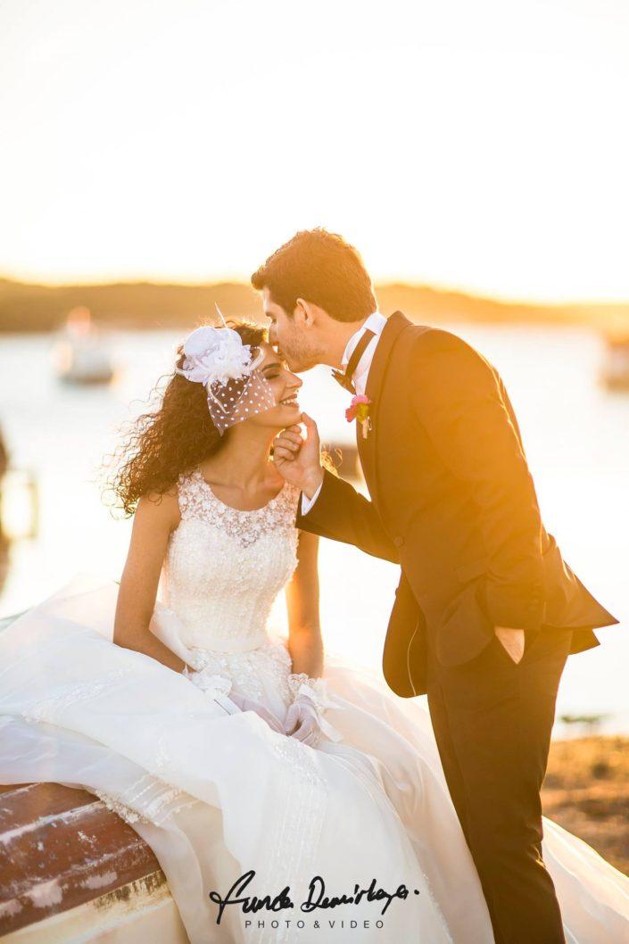 Elif ve Emre Ayvalık Cunda Adası Dış Çekim Düğün Fotoğrafları