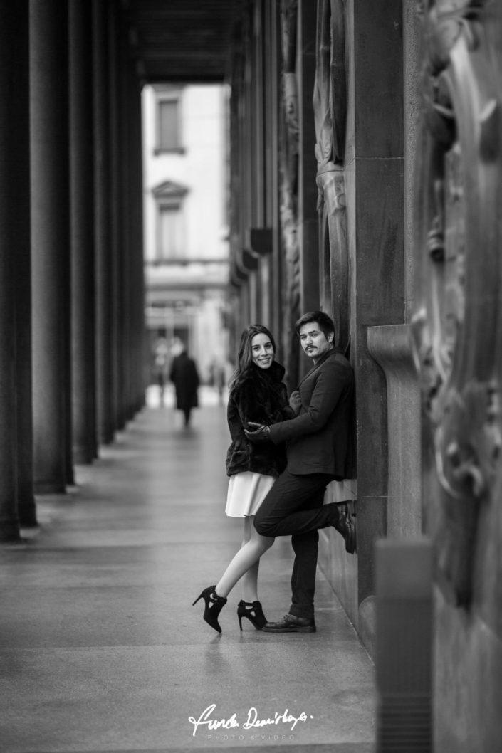 Melike ve Muhiddin Milano İtalya Save The Date Fotoğraf Çekimi