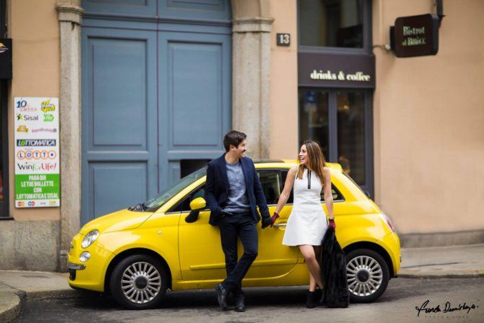 0010Melike ve Muhiddin Milano İtalya Save The Date Fotoğraf Çekimi