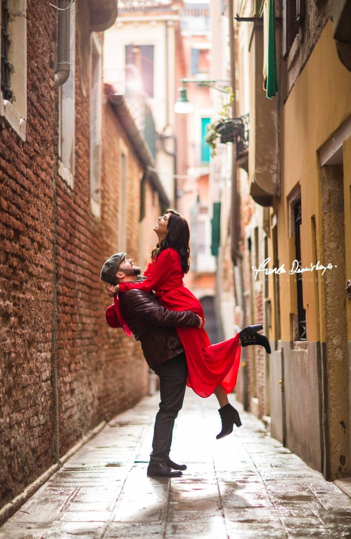 Elif ve Luca Venedik İtalya Yurtdışı Save The Date fotoğrafları (3)