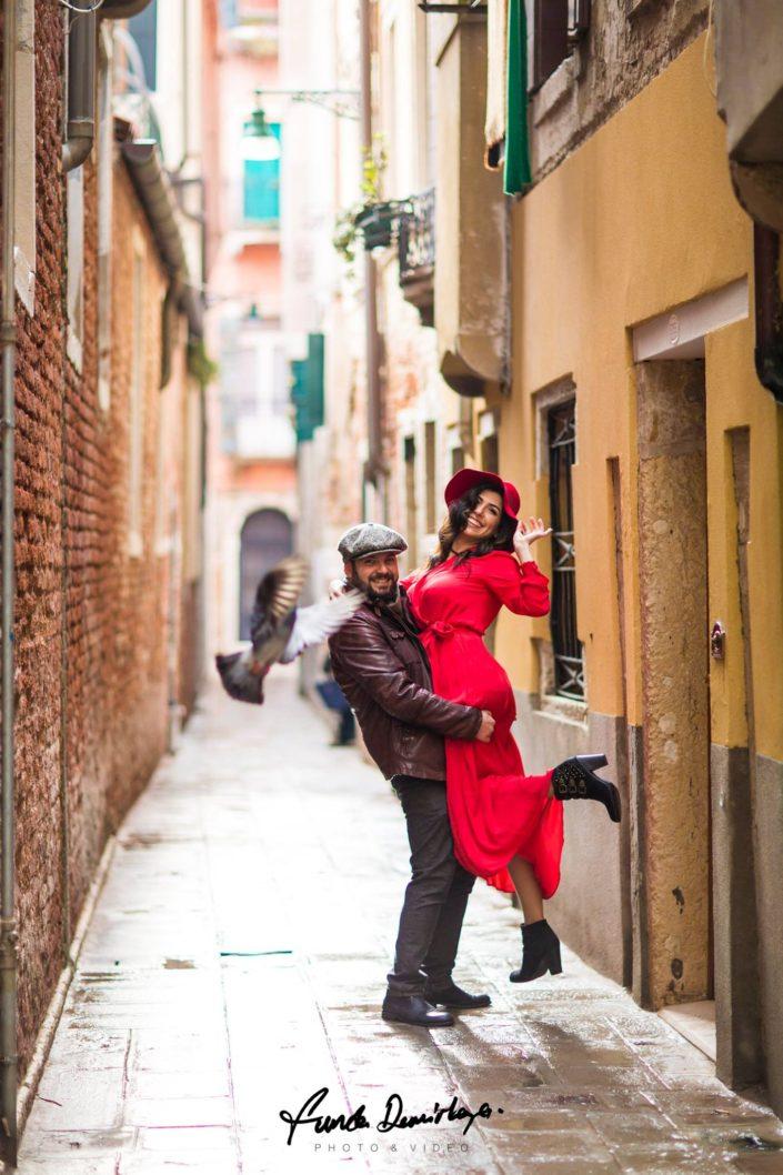 Elif ve Luca Venedik İtalya Yurtdışı Save The Date fotoğrafları (9)