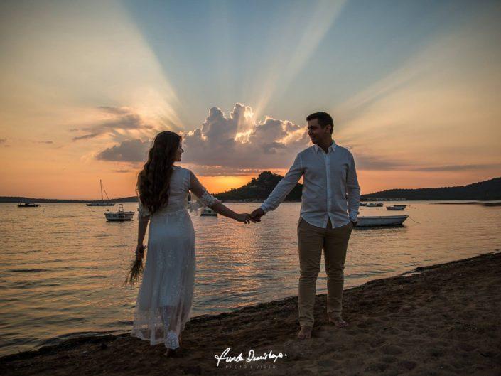 Büşra ve Ahmet Ayvalık Cunda Adası Düğün Fotoğrafları